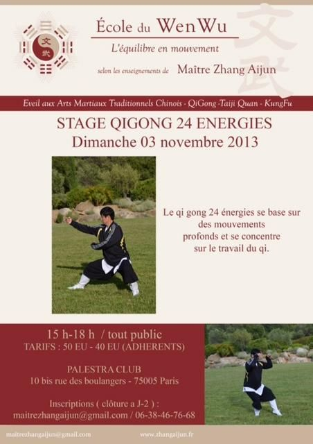 Stage Qigong 24 énergies